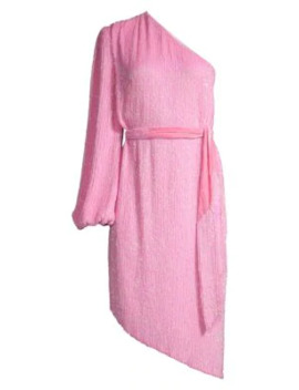 Asymmetric Sequin Belted Sheath Dress by Retrofête