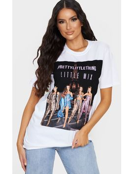 Prettylittlething X Little Mix White Oversized T Shirt by Prettylittlething