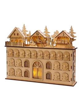 Led Wooden Advent Calendar by Kurt Adler