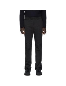 Black Karligraphy Chino Trousers by Fendi