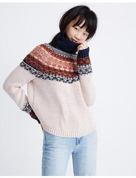 Brookdale Fair Isle Turtleneck Sweater by Madewell