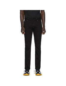 Black Micro Ff Jeans by Fendi