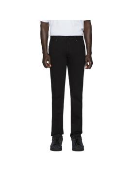 Black Ff Velvet Tape Jeans by Fendi