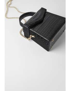 Embossed Animal Print Crossbody MinaudiÈre by Zara