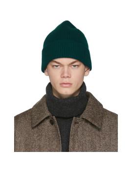 Green Wool Wayne Beanie by Harmony