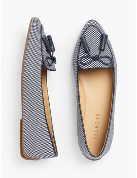 Francesca Tassel Tie Driving Moccasins   Houndstooth by Talbots