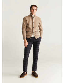 Slim Fit Cotton Wool Trousers by Mango