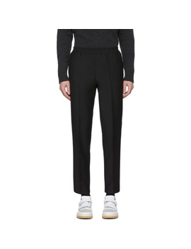 Black Wool Paolo Trousers by Harmony