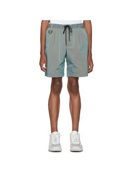Green Cat Edition Iridescent Nylon Running Shorts by John Elliott
