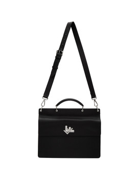 Black Double Faced Business Briefcase by Fendi