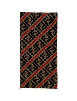 Red & Brown Wool 'forever Fendi' Scarf by Fendi