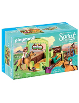 Playmobil Dream Works Spirit 9477 Lucky's Dad And Wagon by Asda