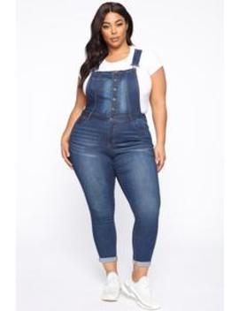 The Only One You Need Skinny Overall   Dark Wash by Fashion Nova