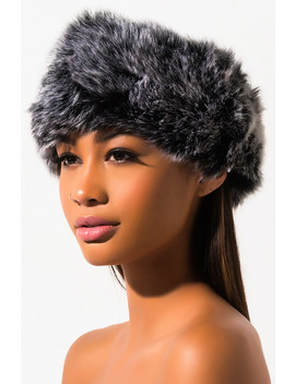 Faux Fur Wrap Around Headband by Akira