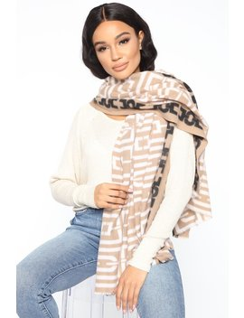 Bad And Bougie Scarf   Beige by Fashion Nova