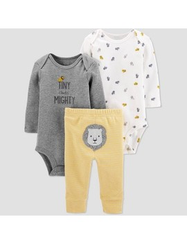 Baby Boys' 3pc Lion Stripe Top & Bottom Set   Just One You® Made By Carter's Yellow by Just One You Made By Carter's
