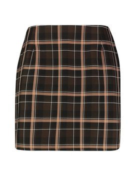 Plus Check Woven Mini Skirt by Boohoo