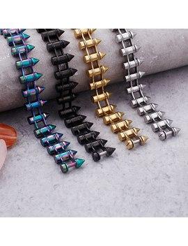 New Hot Sale Men's Titanium Steel Bullet Nail Bracelet Punk Wind Jewelry by Ali Express.Com