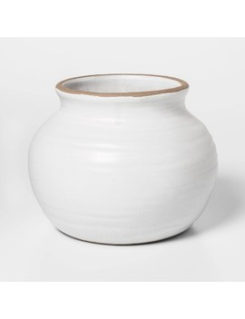 """4.5"""" X 3.5"""" Ceramic Vase White   Threshold™ by Threshold"""