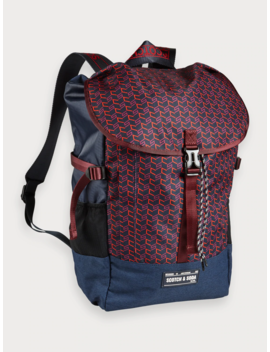 Logo Print Backpack by Scotch&Soda