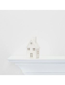 Small Ceramic House Decorative Figure White   Wondershop™ by Shop Collections