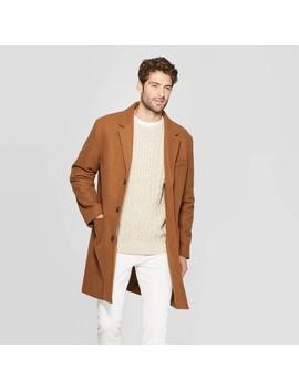 Men's Standard Fit Overcoat   Goodfellow & Co™ Camel by Goodfellow & Co