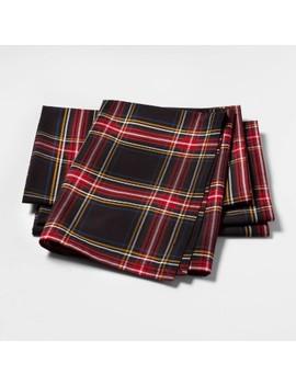 Tartan Plaid Fabric Dinner Napkins Set Of 4   Sugar Paper™ by Sugar Paper