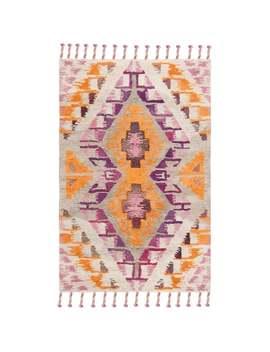 Safavieh Handmade Casablanca Shag Yvette Tribal Moroccan Wool Rug   5' X 8'   Ivory/Multi by Safavieh