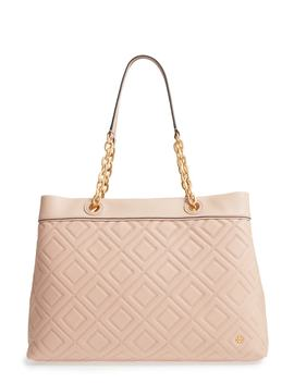 Lousia Lambskin Leather Tote by Tory Burch