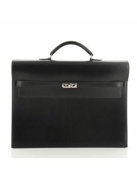 Hermes Kelly Depeche Handbag Box Calf 38 by Hermes