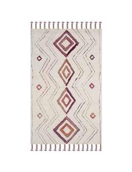 Safavieh Handmade Casablanca Shag Vilma Tribal Moroccan Wool Rug   5' X 8'   Ivory/Multi by Safavieh