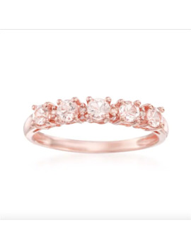 Pinctore 10kt Rose Gold Morganite And Diamond Ring   7 by Generic