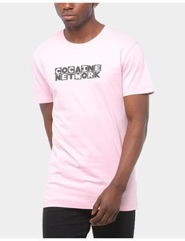 Goat Crew Pablo Network Ss Tee Pink by Goat Crew