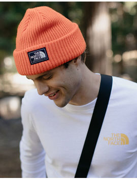 The North Face Salty Dog Orange Mens Beanie by The North Face