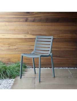 Stackable Slat Outdoor Chairs (Set Of 2) by West Elm