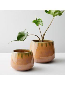 Reactive Glaze Pots by West Elm