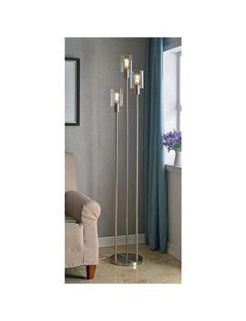 Strick & Bolton Mosley Brushed Steel 73 Inch Torchiere   N/A by Strick & Bolton