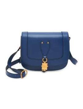 Valentino Garavani V Locker Small Leather Saddle Bag by Valentino