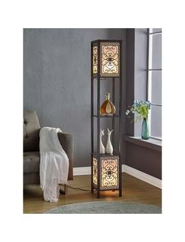 Copper Grove Arans Infinity Heart Shelf 64 Inch Espresso Floor Lamp by Copper Grove