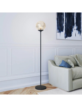 Silver Orchid Forster Mercury Glass Floor Lamp by Silver Orchid