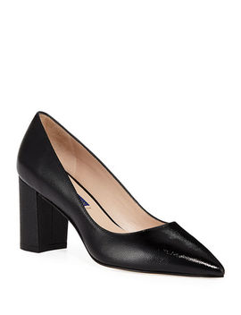 Laney Caviar Patent Leather Pumps by Stuart Weitzman