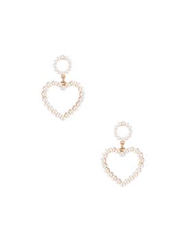 Heart Pearl Earring by Ettika