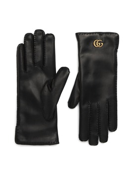 Gg Maya Leather Gloves by Gucci
