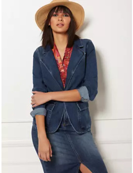 Bari Denim Blazer   Eva Mendes Collection by New York & Company