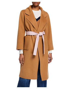 Lyonia Wool Cashmere Belted Coat by Veronica Beard