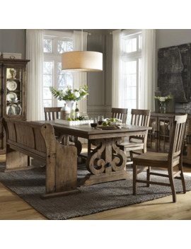 The Gray Barn Bartlett Rectangular Wood Dining Table In Weathered Barley by The Gray Barn