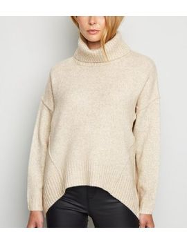 Cream Slouchy Roll Neck Batwing Jumper by New Look