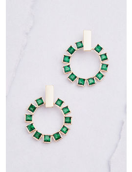 Play It Jewel Hoop Earrings by Modcloth