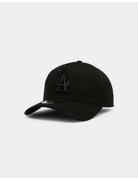 New Era Los Angeles Dodgers 9 Forty A Frame Snapback Black/Black by New Era