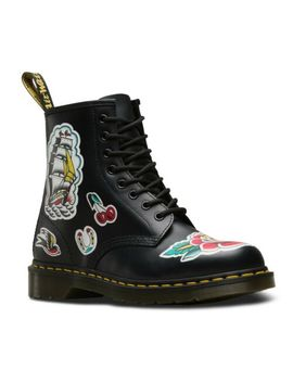 Nib Dr. Martens Unisex 1460 Tattoo Chris Lambert Black Backhand 24243001 by Dr. Martens